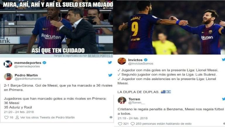 Los mejores 'tweets' de la fiesta del Barça ante el Girona (6-1)