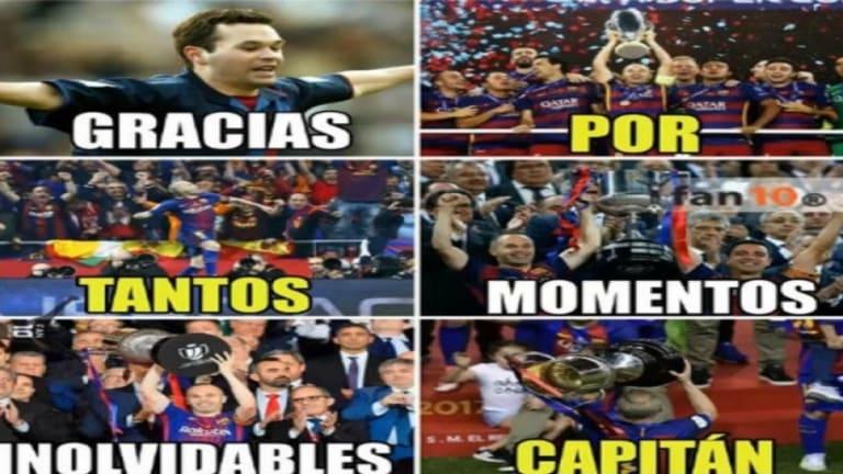 Los mejores memes de la victoria y el título del FC Barcelona, la despedida de Iniesta y más