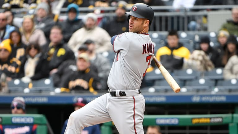 Joe Mauer passes Harmon Killebrew with 14th Opening Day