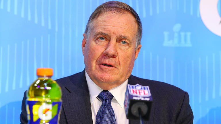 Bill Belichick Smiled How Many Times on Super Bowl LII Opening Night?