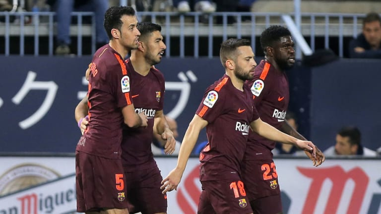 El 1x1 de la victoria del FC Barcelona en la visita a Málaga (0-2)
