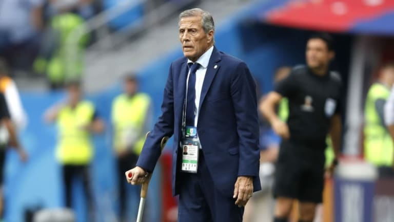 Oscar Tabarez Backs Fernando Muslera After Disastrous Error Seals Uruguay's World Cup Exit