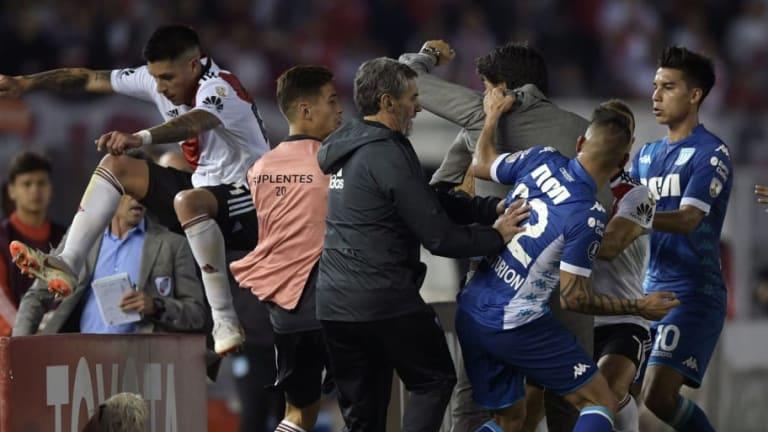 Las declaraciones de Enzo Pérez tras el duro cruce con Ricardo Centurión en la Libertadores