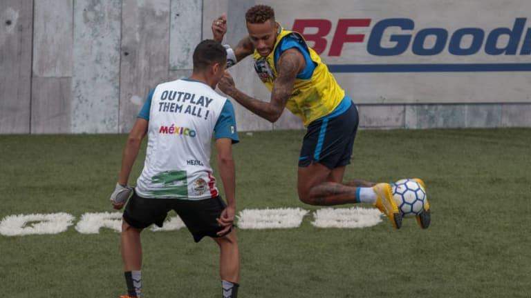 VÍDEO   El feo gesto de Neymar en un partido amistoso de fútbol sala que no gusto a nadie