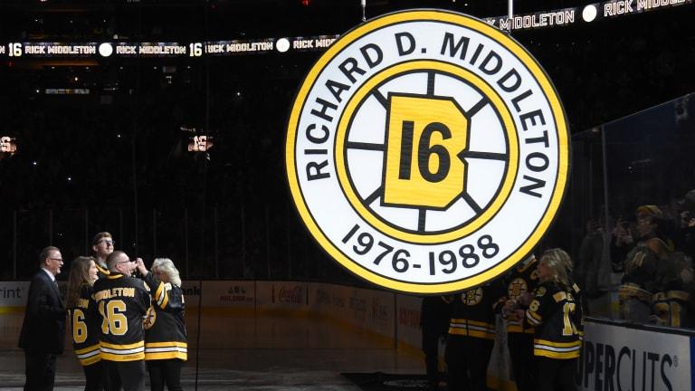 Boston Bruins Retire Rick Middleton's No. 16 at TD Garden