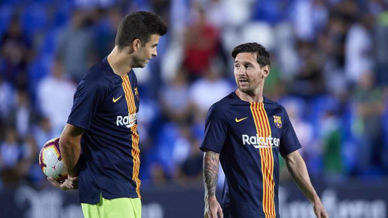 Piqué y Messi dan sus versiones sobre la intencionalidad del segundo gol del Barcelona