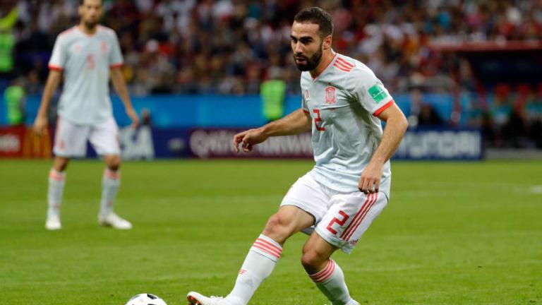 Carvajal revela la conversación de Ramos con el árbitro en el descanso contra Irán
