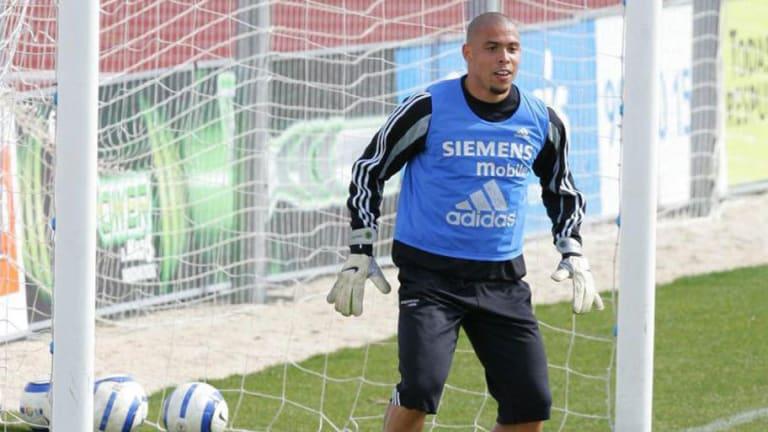 El día que Ronaldo Nazario probó como portero de fútbol sala