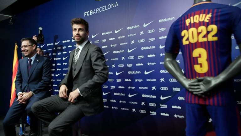 'Barca or Nothing': Spain Defender Gerard Pique Vows to End Career With Catalan Giants
