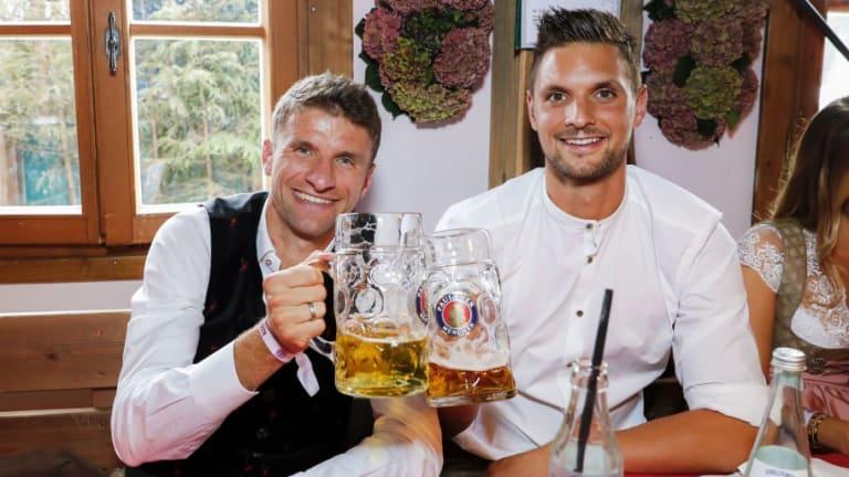 PHOTOS: Bayern Munich Stars Drown Sorrows After Gladbach Defeat in Annual Oktoberfest Celebrations