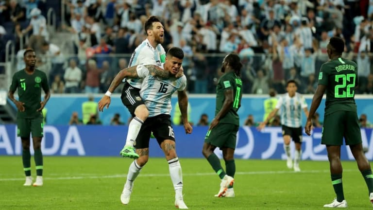Nigeria 1-2 Argentina: Late Show By Rojo Sees La Albiceleste Sneak Into Knockout Stages of World Cup
