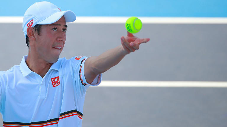 Japan's Kei Nishikori Plays First Grand Slam Match Since Wimbledon