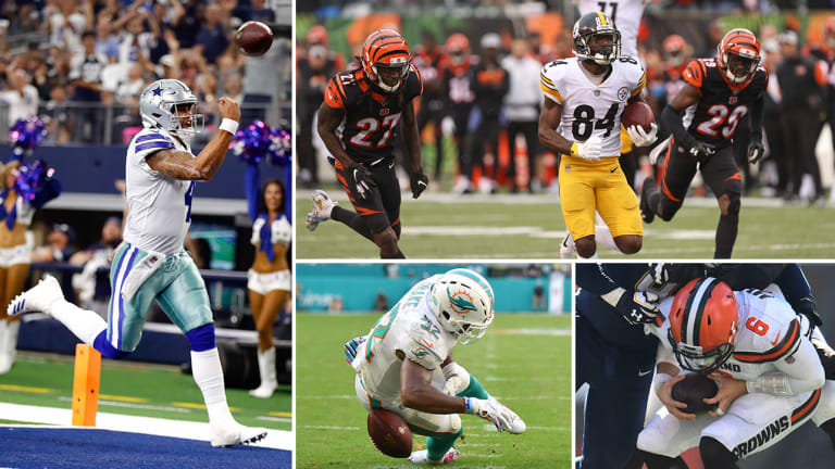 Week 6 Takeaways: Steelers Steal One in Cincy, Dak Rolls Over Jags D, Redemption for Kenyan Drake (and Brock Osweiler!), Baker's Very Bad Day