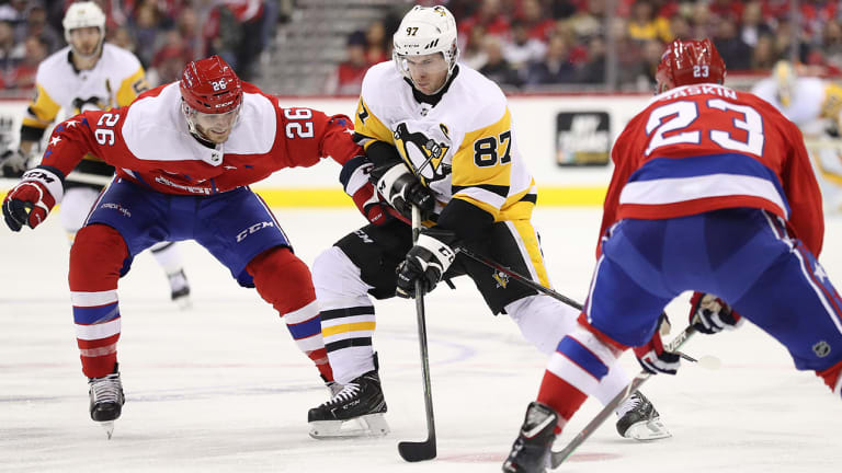 Penguins End Capitals' Five-Game Win Streak With 2-1 Victory