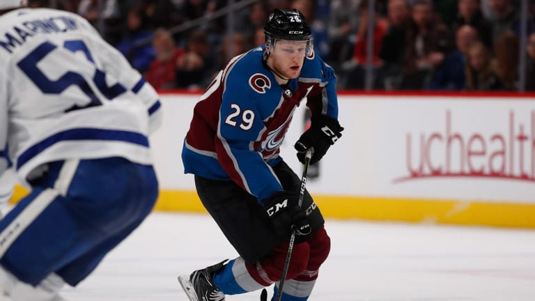 Avs' Nathan MacKinnon Among NHL's Scoring Leaders—Just as He Expected
