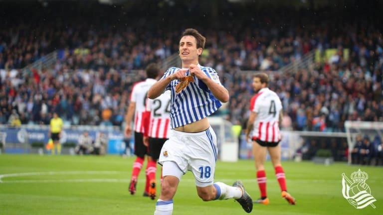 Orgullo y corazón de la Real Sociedad para llevarse el derbi vasco sobre el Athletic Bilbao (3-1)