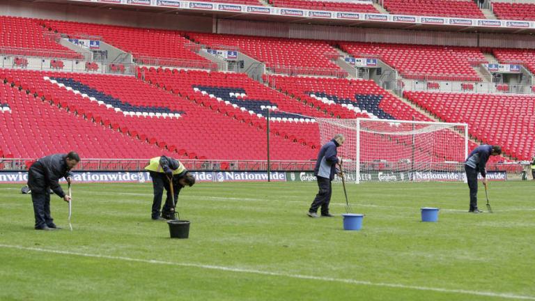 El motivo por el cual el césped de Wembley estaba en el partido entre Tottenham y Barca