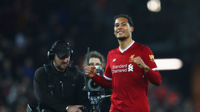 VIDEO: Virgil van Dijk Fails to Hide Happiness After Hearing Manchester United Score