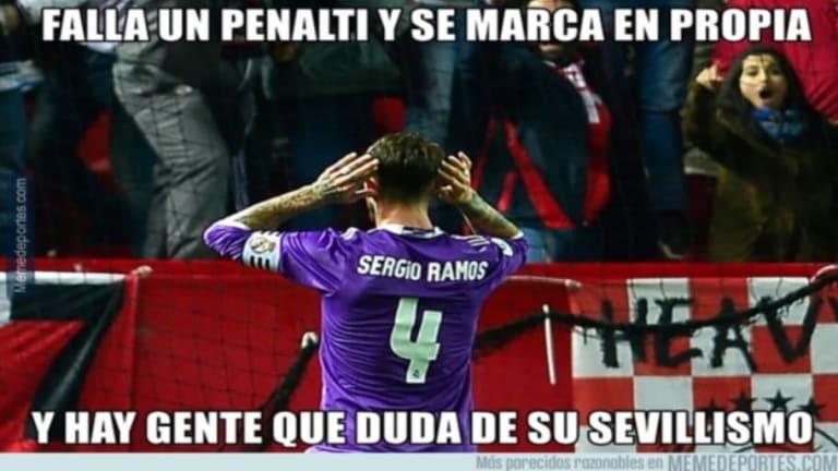 Los mejores 'memes' de la actuación de Ramos con el Madrid, la goleada del Barça al Villarreal y más
