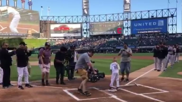 Watch: 7-Year-Old Cancer Patient Spends Day With White Sox, Runs Bases Before Game