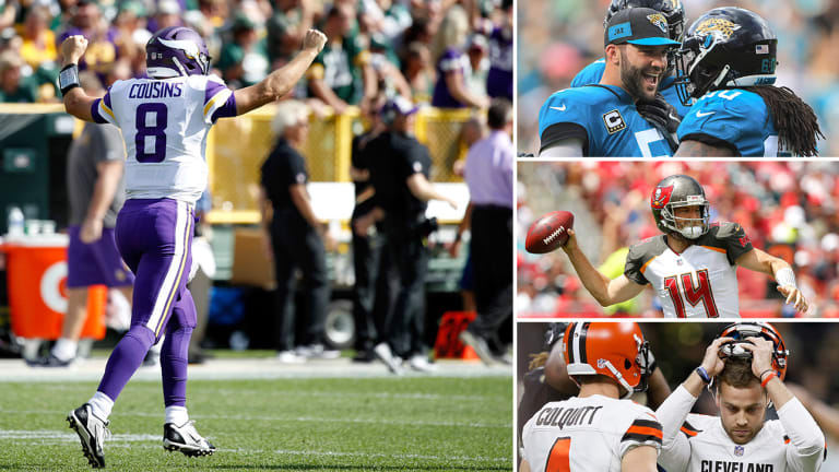 Kirk Cousins's First Vikings Moment, A Bortles Day as Jaguars Put the AFC on Notice, Fitzpatrick on Verge of Ending the Jameis Winston Era in Tampa, Browns Can't Kick Losing