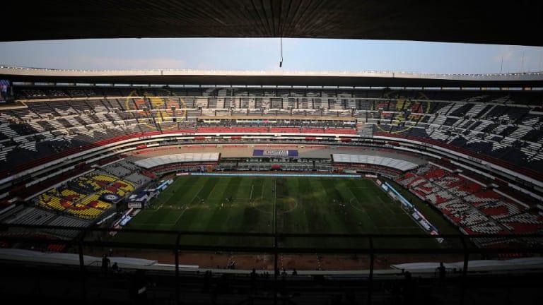 Así luce la cancha del Estadio Azteca con su nuevo césped