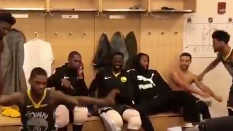 Warriors Mock Fergie By Dancing to Remix of Her Now-Infamous National Anthem Performance