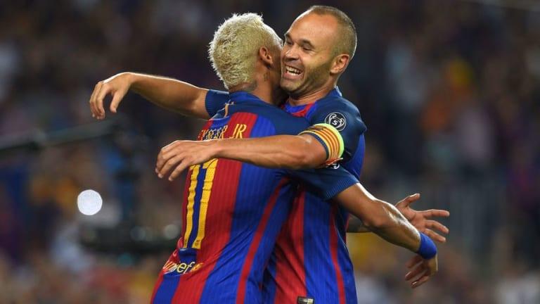 Neymar Posts Heartfelt Tribute Following Andres Iniesta's Barcelona Exit Announcement
