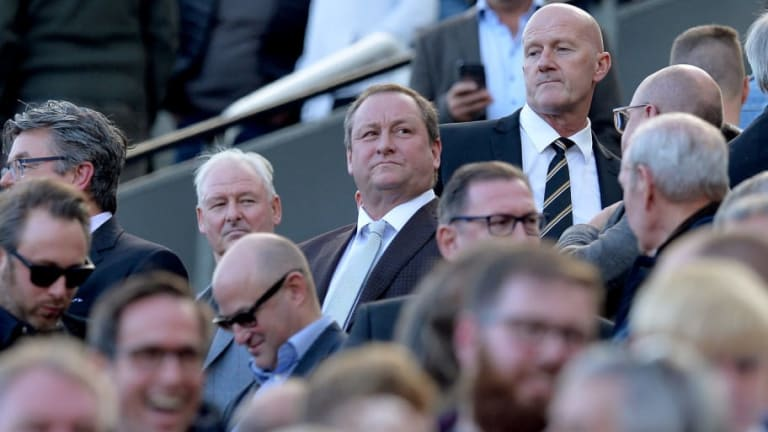 PHOTO: Newcastle Owner Mike Ashley Denies Swearing at Protesting Fans Following Dinner With Squad