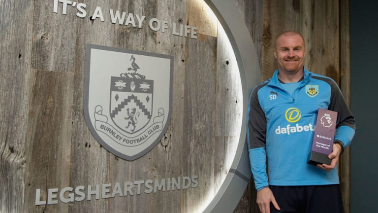 Burnley's Sean Dyche Pips Guardiola & Mourinho to Manager of the Month Award for March