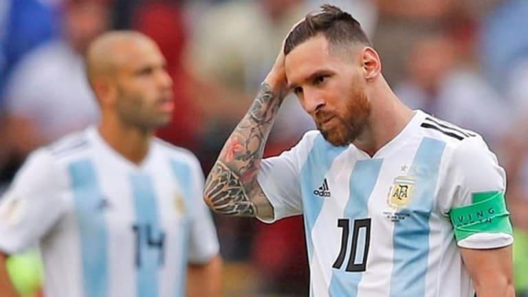 Las reacciones de Lionel Messi al terminar el partido contra Francia