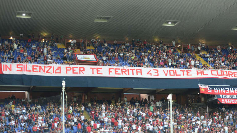 El increíble gesto de la afición del Genoa en recuerdo a las víctimas del puente derrumbado