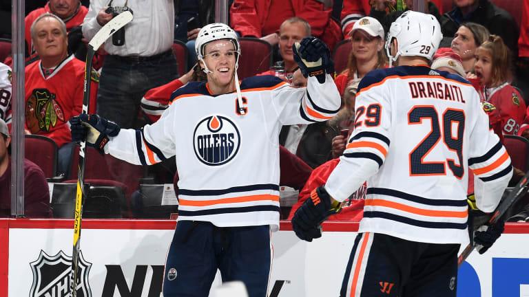 Connor McDavid's OT Goal Gives Oilers 2-1 Win Over Blackhawks