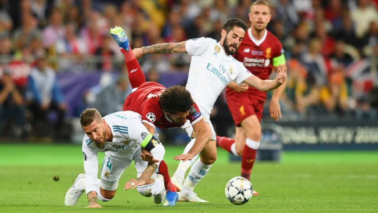 Liverpool Defender Claims Sergio Ramos Was 'Clever' With Infamous Challenge on Mohamed Salah