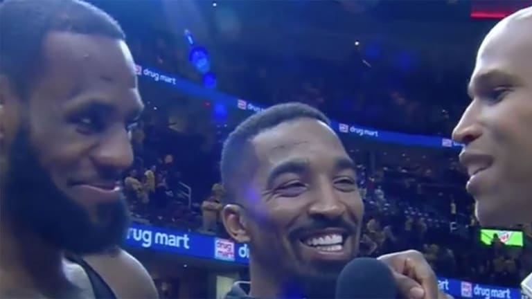 Watch: LeBron James Crashes Richard Jefferson's Postgame Interview With J.R. Smith