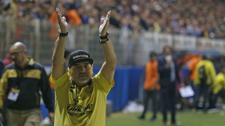 Diego Maradona y un mensaje durísimo contra Alejandro Domínguez, la Conmebol, River y Gallardo