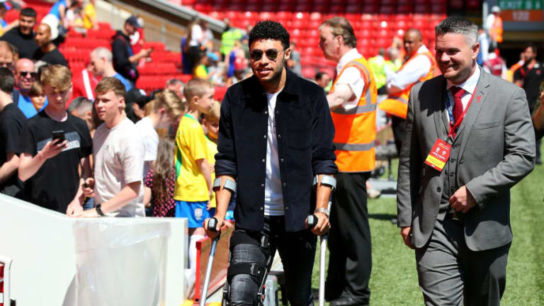'Staying Positive': Liverpool's Alex Oxlade-Chamberlain Offers Update on His Rehabilitation