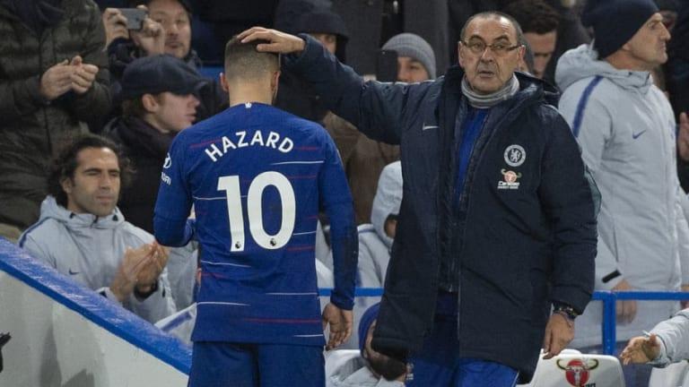 Maurizio Sarri Compares Eden Hazard to Lionel Messi After Belgian Scores 100th Chelsea Goal