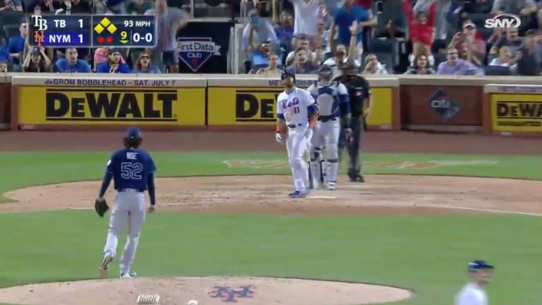Watch: Jose Bautista Hits Grand Slam for First Career Walk-Off Home Run