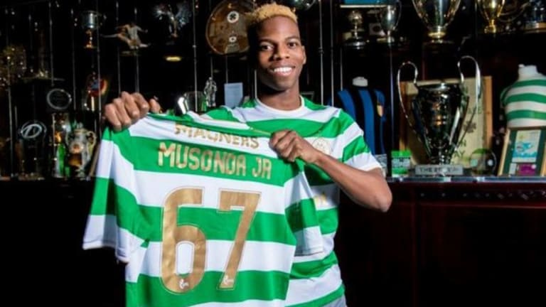 Charly Musonda Picks Celtic's Iconic  67 Shirt But Midfielder Cuts Ties to Chelsea Following Move