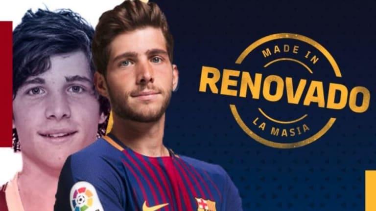 EJEMPLAR | El motivador mensaje de Sergi Roberto a los jugadores de la Masía