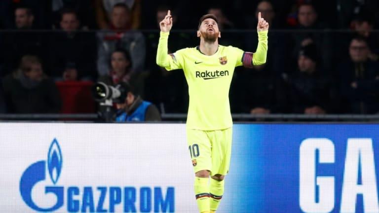 Golazo de Messi entre cuatro rivales para adelantar al Barça ante el PSV (0-1)