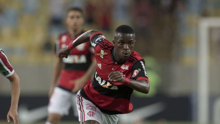 Los números de Vinicius Junior superan a Neymar en su debut profesional