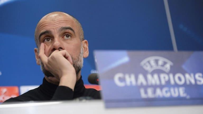 ¡DORMIDO! | La inédita imagen de Pep Guardiola en rueda de prensa después del partido de Champions