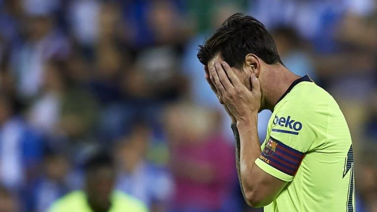 Messi rompió una increíble racha tras perder frente al Leganés