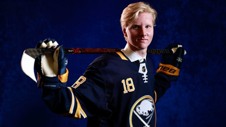 No. 1 NHL Draft Pick Rasmus Dahlin Hits the Ice Upon Arriving in Buffalo