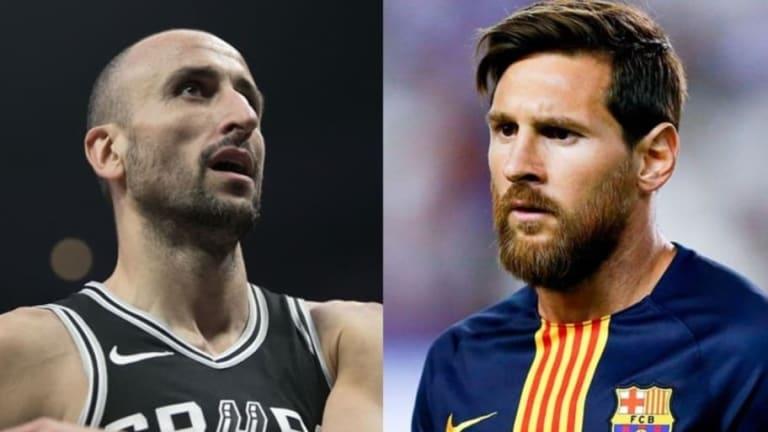 EMOCIONANTE   El mensaje de Lionel Messi a Manu Ginóbili tras confirmarse su retiro