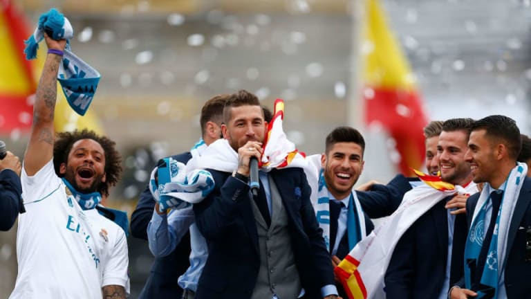 VIDEO: Sergio Ramos Pokes Fun At Atletico Madrid During Champions League Victory Parade