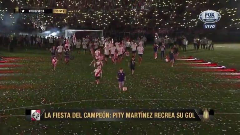 Descubrieron quién es el chico que le robó el gol al Pity Martínez en el Monumental
