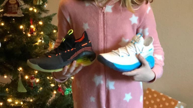 WATCH: Steph Curry Surprises Girl Who Wrote Letter About His Shoes With New Curry 6's on Christmas